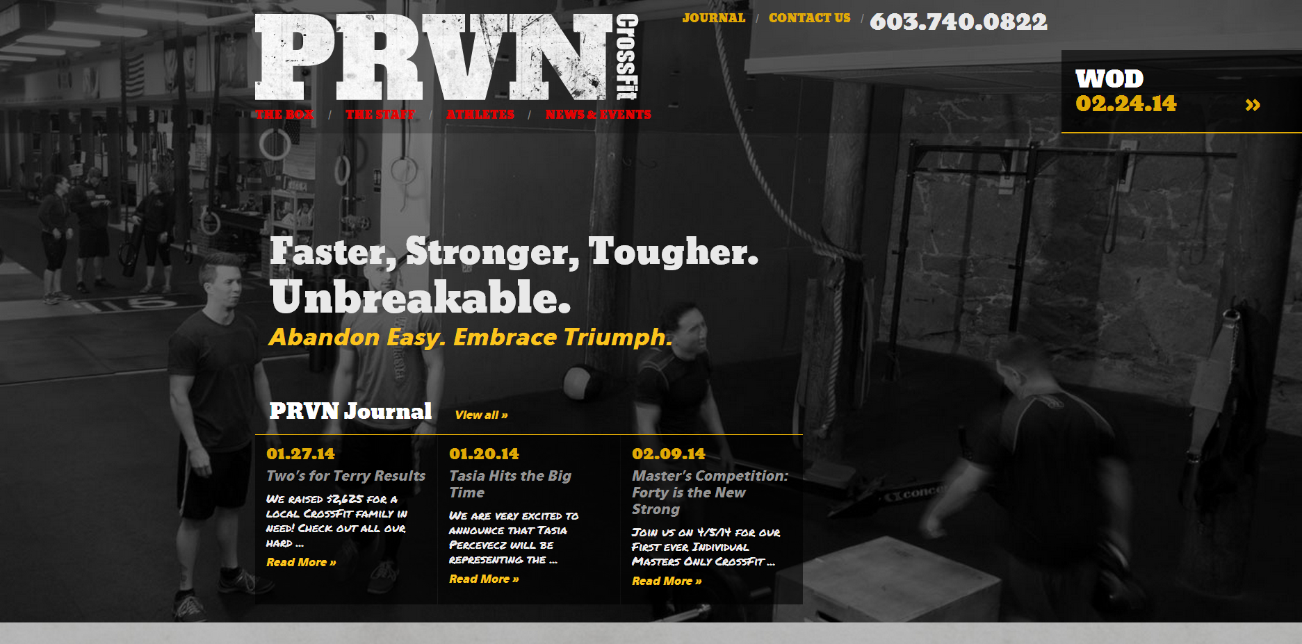 EverProven Crossfit Website Homepage